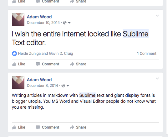 AMW Raving About Sublime on FB
